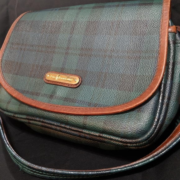 ✨Vintage POLO RALPH Lauren Green Plaid Flap Purse✨.  M 5aba46e19a94557323abe1a3 12753a9203051
